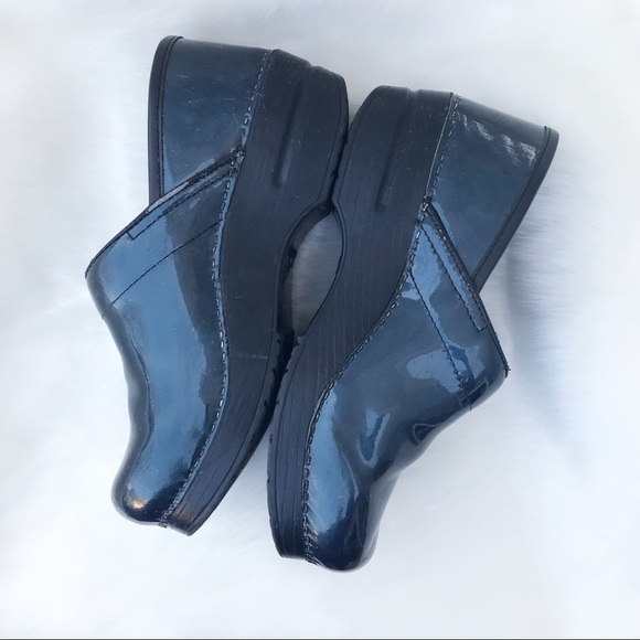 Professional Navy Blue Patent Leather